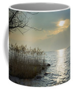 Sunlight On The Lake With Pampas Grass Coffee Mug