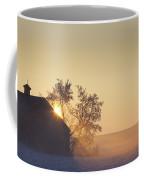 Sunlight Shining Behind A House In A Coffee Mug