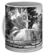 Sunlight Through Savannah Fountain With Vignette Coffee Mug