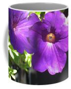 Sunlit Petunias Coffee Mug