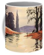 Sunlit River - Chess At Latimer Coffee Mug