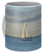 Sunlit Sailboat Coffee Mug