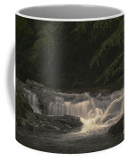 Early Morning Sunlit Waterfall Coffee Mug