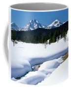 Sunny January Day Sawtooth Mountains Coffee Mug