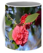 Sunny Red Camelias Coffee Mug