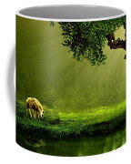 Sunrays In An Ireland Sheep Pasture  Coffee Mug