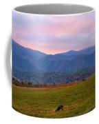 Sunrise And Deer In Cades Cove Coffee Mug