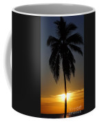 Sunrise And Palm Tree Coffee Mug
