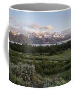 Sunrise At Grand Teton Coffee Mug by Brian Harig