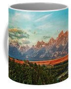 Sunrise At Grand Tetons Coffee Mug