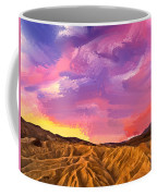 Sunrise At Zabriskie Point Coffee Mug