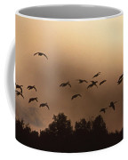 Sunrise Fog And Incoming Coffee Mug by Skip Willits