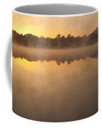 Sunrise In Fog Lake Cassidy With Mount Pilchuck And Reflections  Coffee Mug
