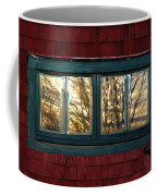 Sunrise In Old Barn Window Coffee Mug