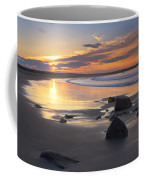 Sunrise On A Beach Near The Port Coffee Mug