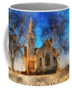 Sunrise On A Rural Church 12 Coffee Mug