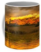 Sunrise On Little Redfish Lake Coffee Mug
