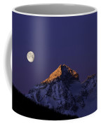 Sunrise On Piz Julier Switzerland With Moon Coffee Mug