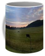 Sunrise Over Farm Coffee Mug