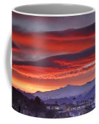 Sunrise Over Granada And The Alhambra Castle Coffee Mug