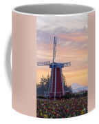 Sunrise Over Wooden Shoe Tulip Farm And Coffee Mug