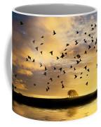 Birds Awaken At Sunrise Coffee Mug