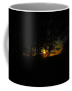 Sunrise Through The Forest Coffee Mug