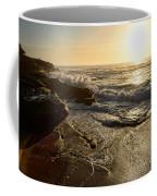 Sunrise Waves On The Rocks By Kaye Menner Coffee Mug