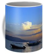Sunrise With Outrigger Boats Coffee Mug