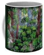 Suns Rays - Forest - Steel Engraving Coffee Mug