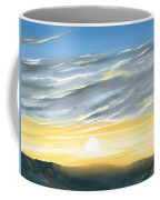 Sunset Above The Hill Coffee Mug