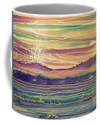 Sunset Across The River Coffee Mug