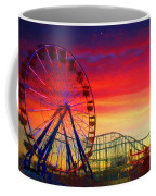 Sunset And A Sliver Moon Coffee Mug
