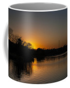 Sunset And Contrails Coffee Mug