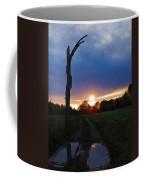 Sunset And The Dead Tree Coffee Mug