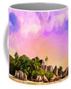 Sunset At Anse Source Argent Seychelles Coffee Mug