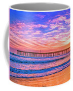 Sunset At Cayucos Pier Coffee Mug