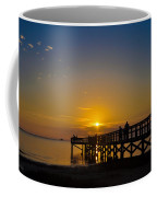 Sunset At Crystal Beach Pier Coffee Mug