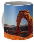 Sunset At Delicate Arch Coffee Mug