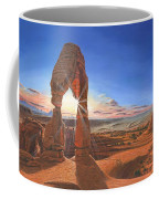 Sunset At Delicate Arch Utah Coffee Mug