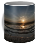 Sunset At Great Fountain Geyser - Yellowstone Coffee Mug