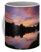 Sunset At Japanese Garden Coffee Mug
