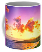 Sunset At Oneloa Beach Maui Coffee Mug