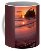 Sunset At Second Beach Olympic National Park Coffee Mug
