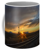 Sunset At The Edge Of Oil Rigs Coffee Mug
