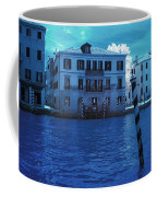 Sunset At The Hotel Canal Grande Venice Italy Near Infrared Blue Coffee Mug