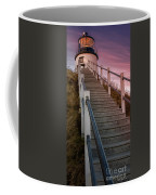 Sunset At The Lighthouse Coffee Mug