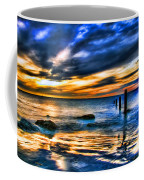 Sunset At Washed Out Pier Coffee Mug
