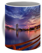 Sunset Balcony Of The West Palm Beach Skyline Coffee Mug by Debra and Dave Vanderlaan