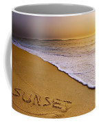 Sunset Beach Coffee Mug by Carlos Caetano